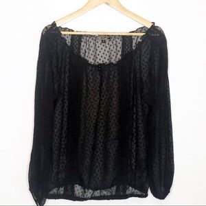 Love Stitch | Sheer Mesh Blouse S